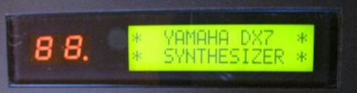 Yamaha DX7 Illuminated Display