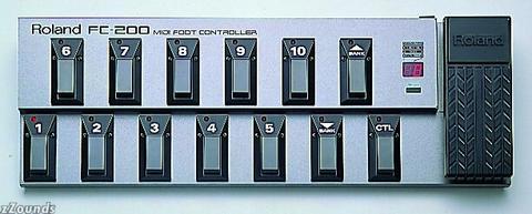 Roland FC-200 MIDI Pedal Board for Roland GP-100