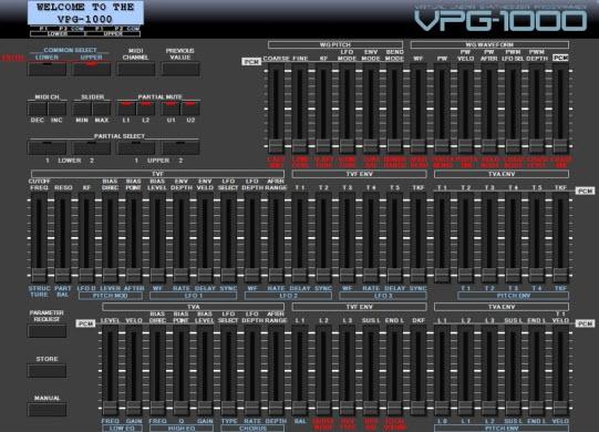 Roland D50 VPG-1000 Editor