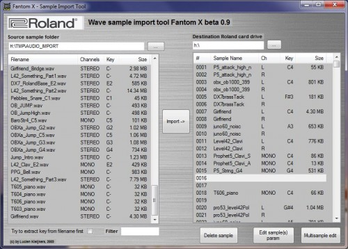 Roland Fantom Import Sample Tool 95