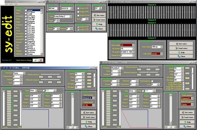 Yamaha SY-22 Editor