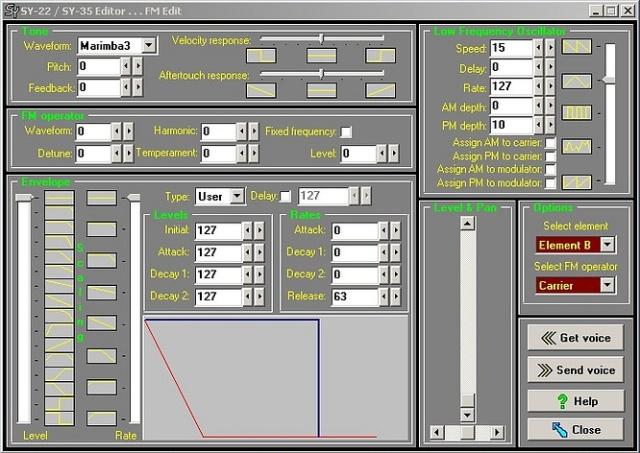 Yamaha SY-22 SY Editor V2