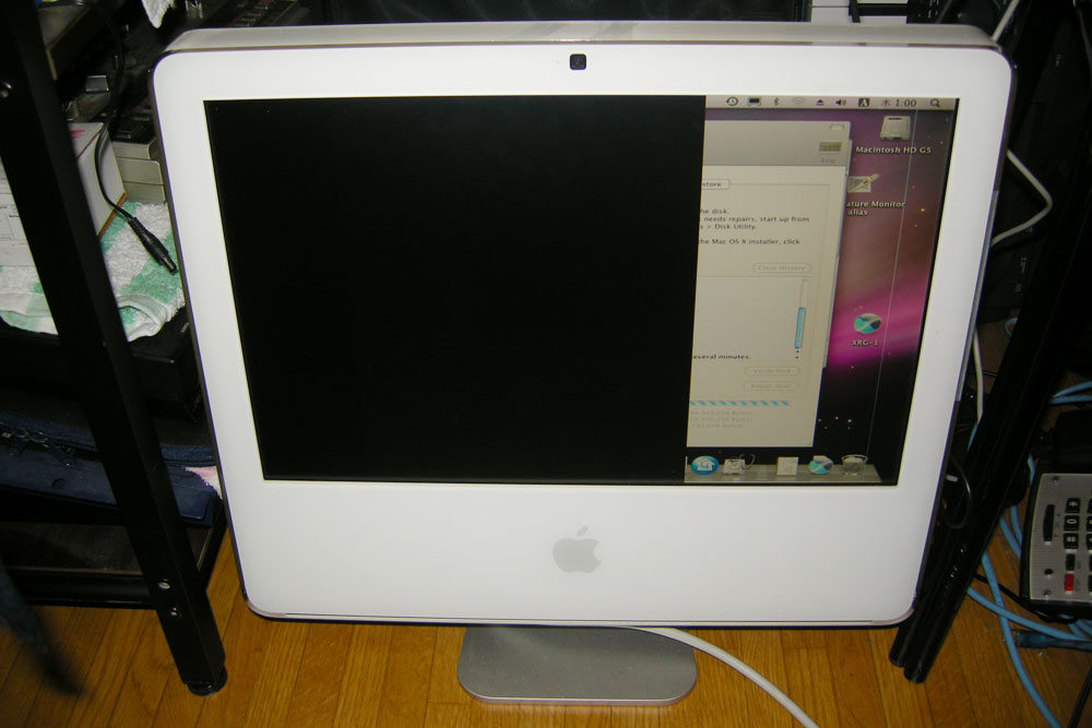 apple imac g ghz screen problem and fans not working