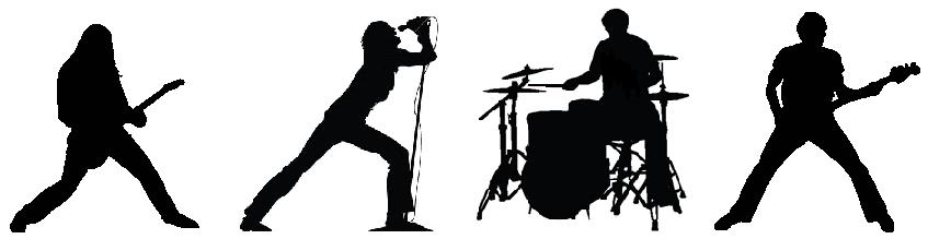 Nagano Musicians | Jim Atwood in Japan Rock Band Silhouette