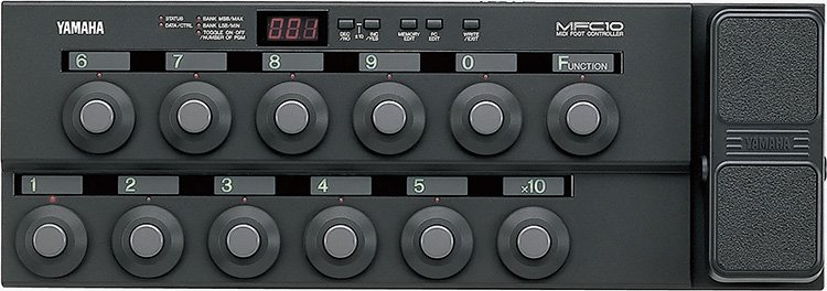 yamaha mfc10 foot controller plays chords jim atwood in japan. Black Bedroom Furniture Sets. Home Design Ideas