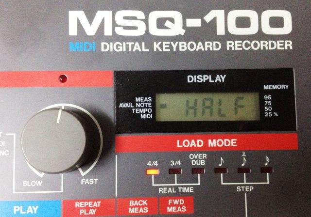 Roland MSQ-100 HALF ISSUE