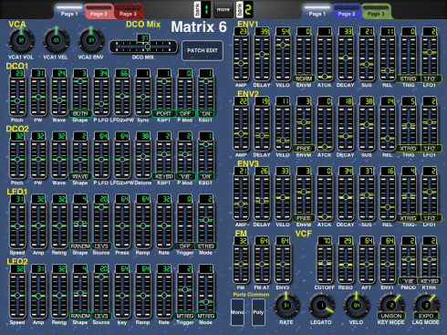 Matrix 6 Patch Editor