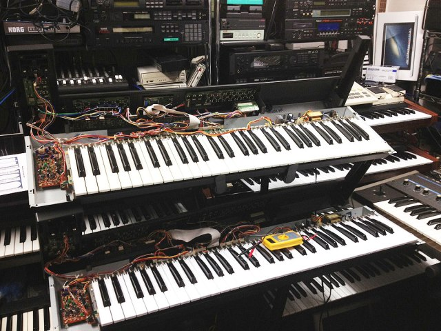 Two Roland Alpha Juno-2 Synths