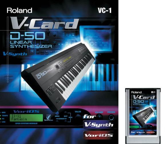 Roland D-50 V-Card