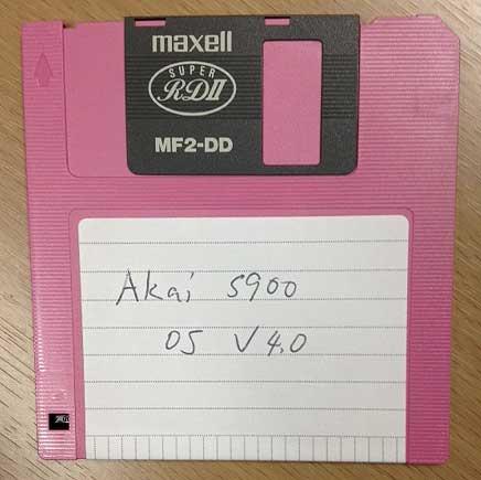 Akai S900 OS 4.0 Disk