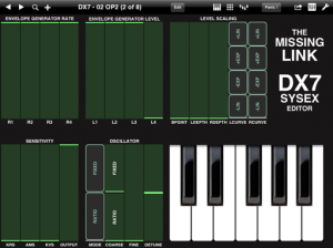 Yamaha DX7 iPad App