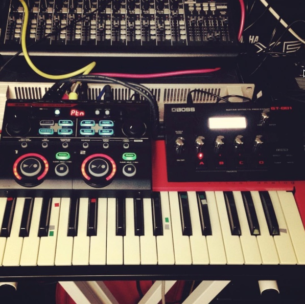Boss GT-001 with Nord Lead