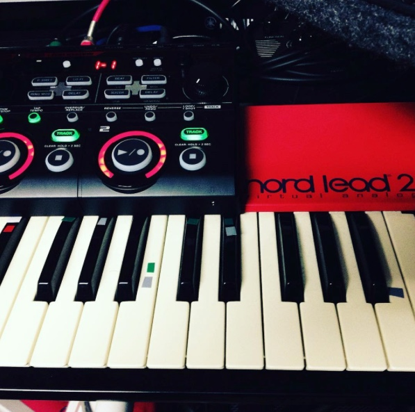 Boss RC-202 with Nord Lead